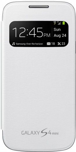 Чехол Samsung для Galaxy S4 Mini S View Case White (EF-CI919BWEGWW)