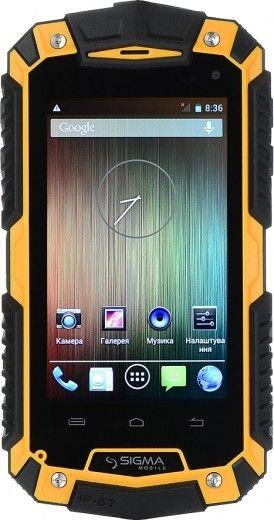 Мобильный телефон Sigma mobile X-treme PQ16 Yellow-Black