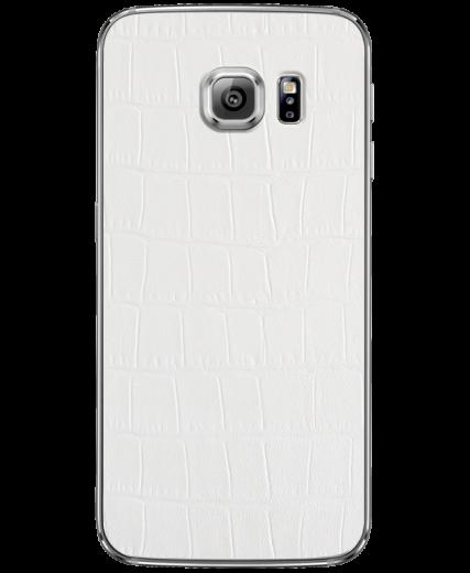Кожаная наклейка White Alligator для Samsung Galaxy S6 edge (G925)