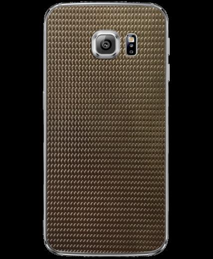 Кожаная наклейка Dark Gold для Samsung Galaxy S6 edge (G925)