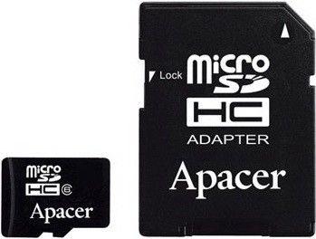 Карта памяти Apacer 16 GB microSDHC Class 4 + SD adapter AP16GMCSH4-R
