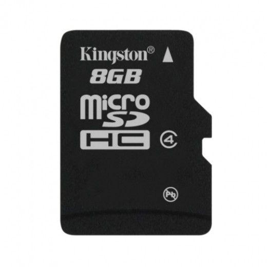 Карта памяти KINGSTON 8GB Micro SD Class4 (SDC4/8GBSP)