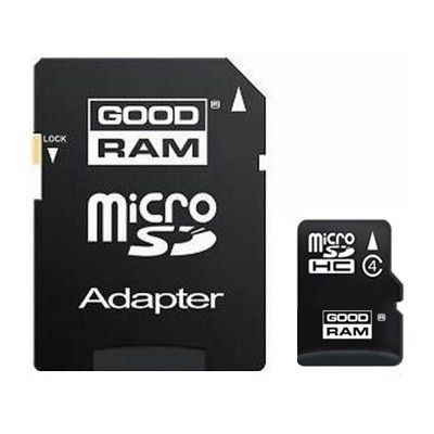 Карта памяти GOODRAM 4GB micro SD Class 4 + adapter