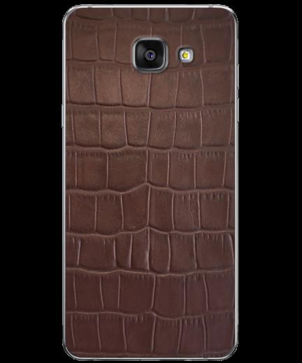 Кожаная наклейка Brown Croco для Samsung Galaxy A5 (2016)