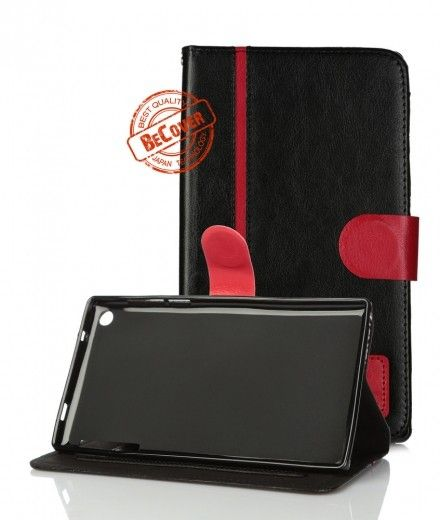 Кожаный чехол Folio PU  BeCover для Lenovo Tab 2 A7-30 Black-Red