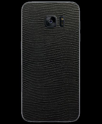 Кожаная наклейка Black Stingray для Samsung Galaxy S7 edge (G935)