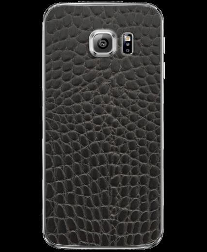 Кожаная наклейка Black Reptile  для Samsung Galaxy S6 edge (G925)