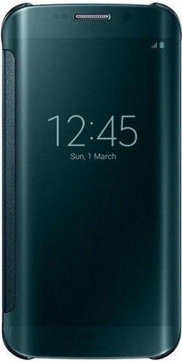 Чехол Samsung Clear View для Samsung Galaxy S6 Edge Green (EF-ZG925BGEGRU)