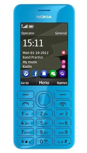 Мобильный телефон Nokia 206 Asha Dual Sim Cyan