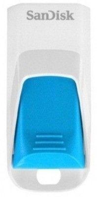 USB флеш накопитель Sandisk Cruzer Edge 8Gb White-Blue (SDCZ51W-008G-B35B)
