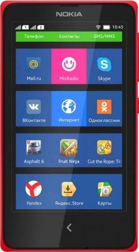Мобильный телефон Nokia X Dual SIM Red