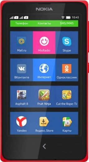 Смартфон Nokia X Dual SIM Red
