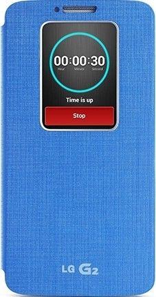 Чехол LG QuickWindow для LG G2 D802 Blue (CCF-240G.AGEUBL)