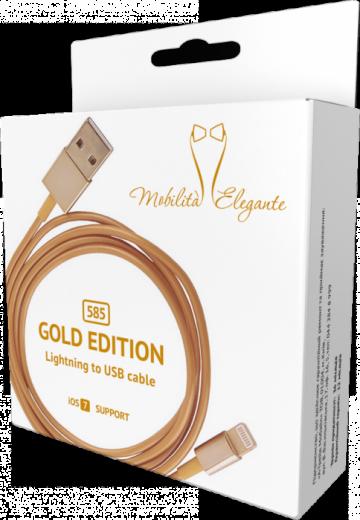 Кабель синхронизации Mobilita Elegante iPhone 5 Gold