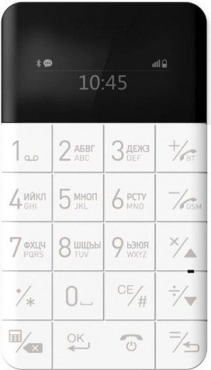 Мобильный телефон Elari CardPhone White (LR-CP-WHT)
