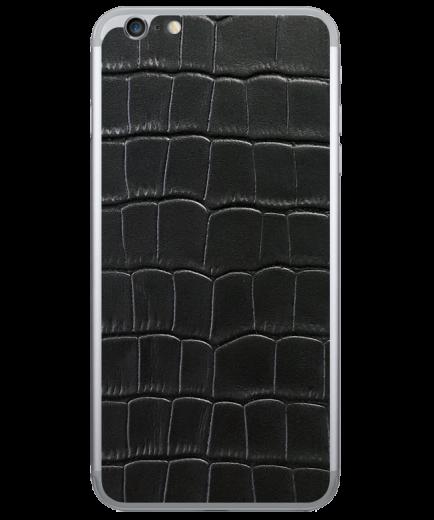 Кожаная наклейка Classic Black  для iPhone 6/6S