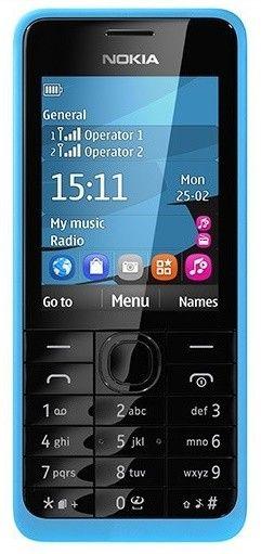 Мобильный телефон Nokia 301 Dual Sim Cyan