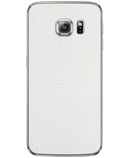 Кожаная наклейка White Alligator для Samsung Galaxy S6 edge + (G928)