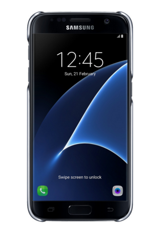 Чехол Samsung Clear Cover для Galaxy S7 Black (EF-QG930CBEGRU)