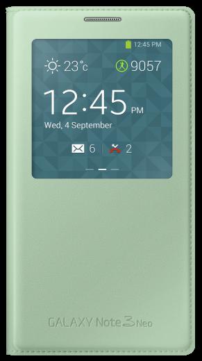 Чехол Samsung S View EF-CN750BMEGRU Mint для Galaxy Note 3 Neo