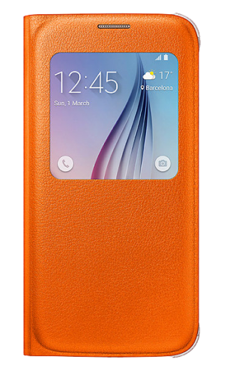 Чехол Samsung S View Zero для Samsung Galaxy S6 Orange (EF-CG920POEGRU)
