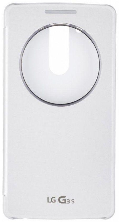 Чехол LG QuickWindow для LG G3s D724 White (CCF-490G.AGEUWH)