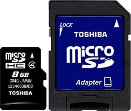 Карта памяти Toshiba 8 GB microSDHC class 4 SD adapter SD-C08GJ
