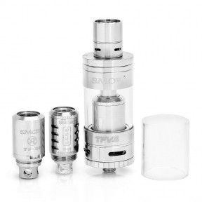 Атомайзер Smok TFV4 Full Kit Stainless (SMTFV4FKSL)