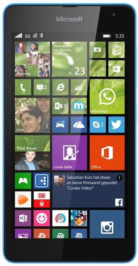 Смартфон Microsoft Lumia 535 DS Cyan