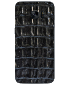 Кожаная наклейка Black Croco для Samsung Galaxy S7 edge (G935)