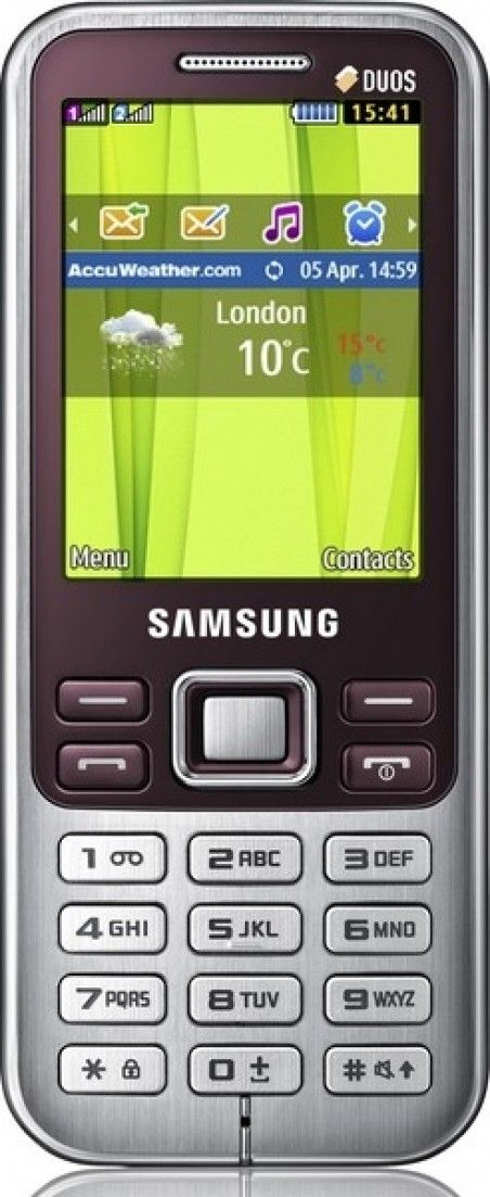 Мобильный телефон Samsung C3322 Wine Red