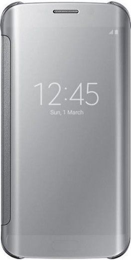 Чехол Samsung Clear View для Samsung Galaxy S6 Edge Silver (EF-ZG925BSEGRU)