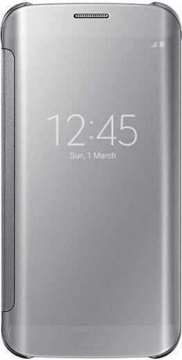 Чехол Samsung Clear View для Samsung Galaxy S6 Edge Silver (EF-ZG925BSEGRU)