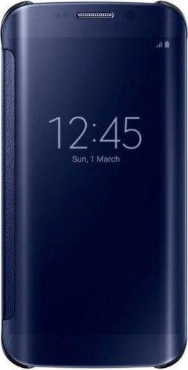 Чехол Samsung Clear View для Samsung Galaxy S6 Edge Blue (EF-ZG925BBEGRU)