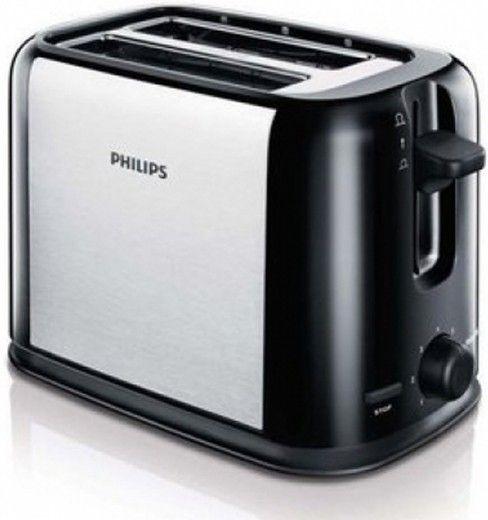Тостер PHILIPS HD2586/20 Черный/серебристый