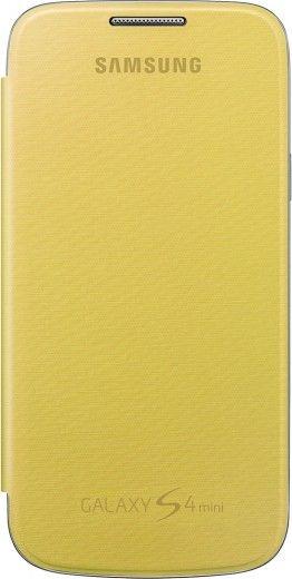 Чехол-книга Samsung для Galaxy S4 Mini Yellow (EF-FI919BYEGWW)