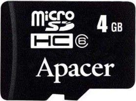 Карта памяти Apacer 4 GB microSDHC Class 4 AP4GMCSH4-RA