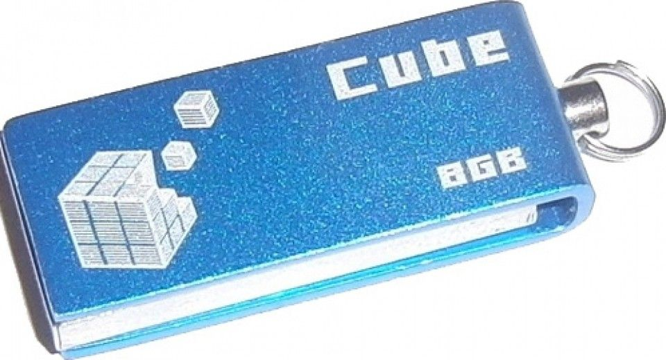 USB флеш накопитель Goodram GOODDRIVE Cube Blue 8GB (PD8GH2GRCUBR9)