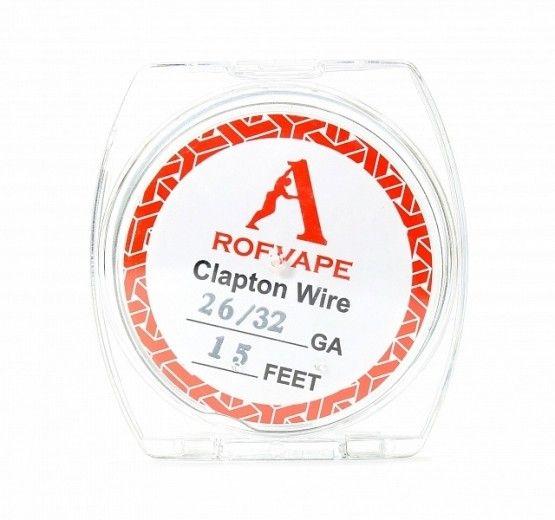 Проволока для спирали Rofvape Clapton Wire 26GA+30GA 5 м (PVCW2630)