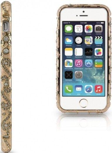 Бампер Newsh MERAL AND DIAMONDS iPhone 5 Gold