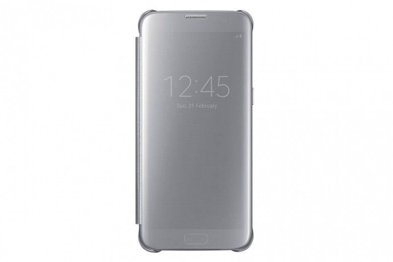 Чехол Samsung Clear View Cover для Galaxy S7 Edge Silver (EF-ZG935CSEGRU)