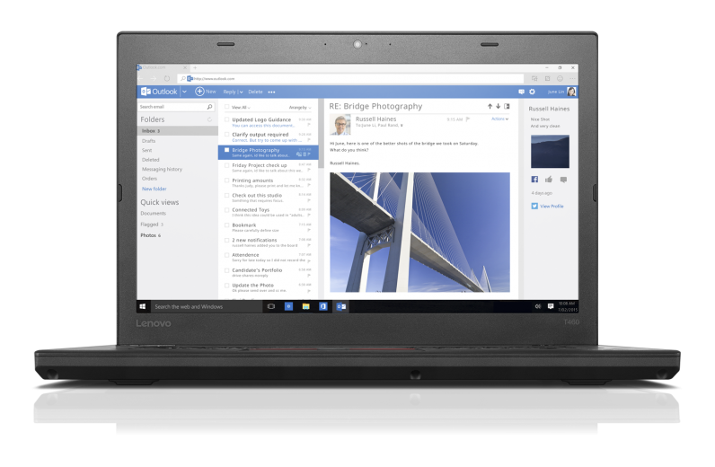 Ноутбук LENOVO ThinkPad T460 (20FNS03N00)