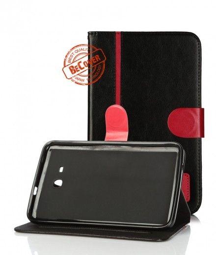 Кожаный чехол Folio PU BeCover для Samsung Tab 3 Lite T110/T111/T113/T116 Black-Red