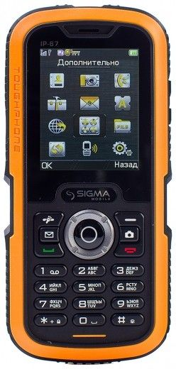 Мобильный телефон Sigma mobile X-treme IP67 Black Orange