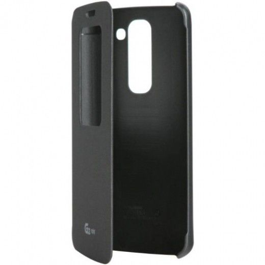 Чехол LG QuickWindow для LG G2 mini D618 Black (CCF-370.AGEUTB)