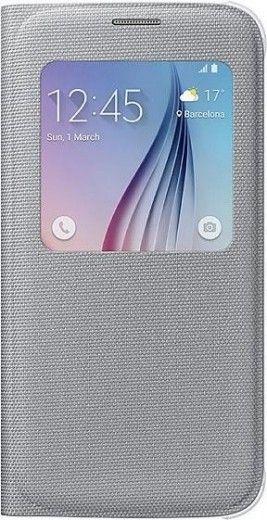Чехол Samsung S View Zero для Samsung Galaxy S6 Silver (EF-CG920BSEGRU)