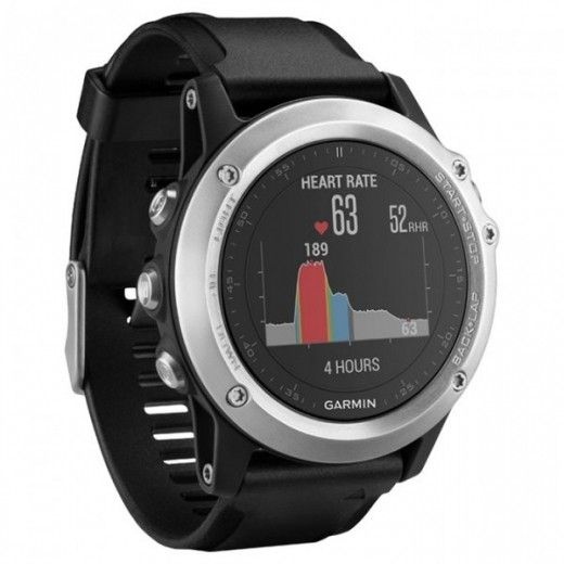 Смарт часы Garmin Fenix 3 HR Silver Edition with Black Silicone Band  (010-01338 ddb9a06291744