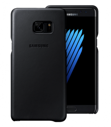 Чехол Leather Cover Samsung Galaxy Note 7 Black (EF-VN930LBEGRU)
