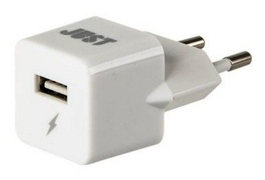 Сетевое зарядное устройство Just Atom USB Wall Charger White (WCHRGR-TM-WHT)