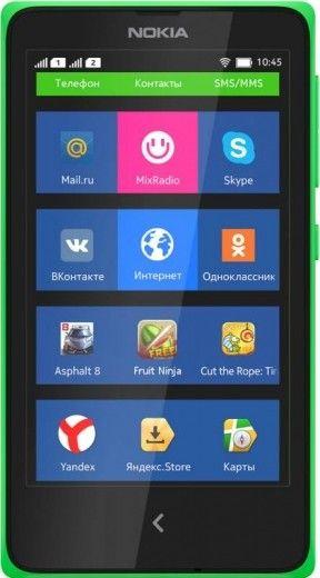 Мобильный телефон Nokia X Dual SIM Green